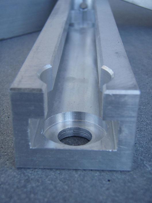 Kettenspannelement aus Aluminium CNC