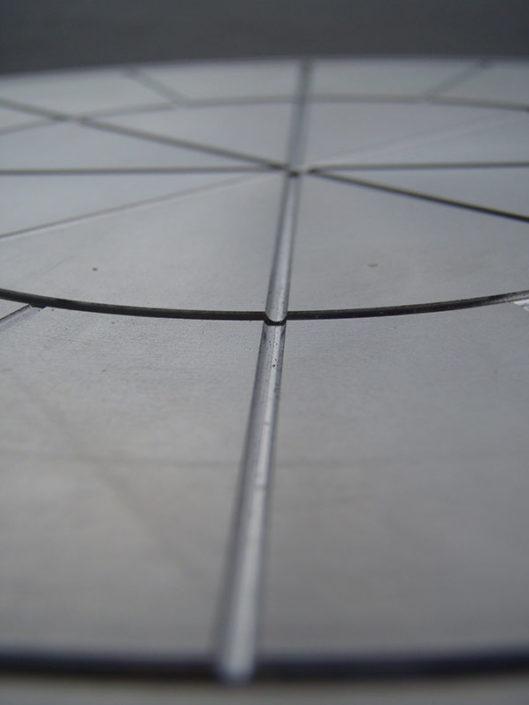 Spiegelswcheibe aus hochlegiertem Stahl